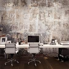 papier peint bureau peinture murale personnalisée industrielle style ciment papier