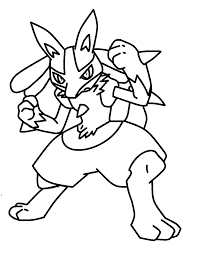 lucario coloring pages eson me