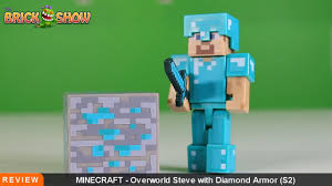 diamond steve minecraft steve with diamond armor figure review
