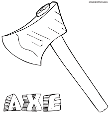 axe coloring pages coloring pages to download and print