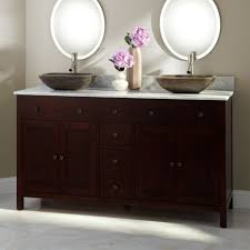 sink bowls on top of vanity bathroom bathroom furniture idea with dark brown vanity using white