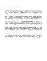 business letter templates importance