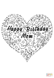 coloring pages happy birthday happy birthday mom coloring page free printable coloring pages