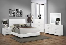 Coaster Furniture Bedroom Sets by Felicity 5 Piece Panel Bedroom Set In Glossy White