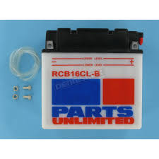 parts unlimited heavy duty 12 volt battery rcb16clb atv u0026 utv