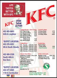 Kfc With Buffet by Kentucky Fried Chicken Lincoln Ne 68505 Yp Com
