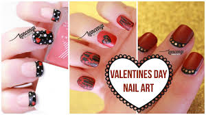 diy cute u0026 easy nail art for beginners 22 valentines day nail
