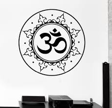 Om Wall Decal Mandala Vinyl by Aliexpress Com Buy Home Decals Buddha Lotus Stickers Removable