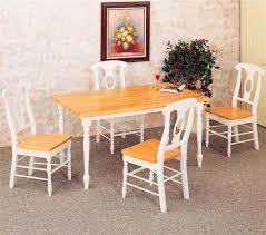 Inch Natural White Butcher Block Kitchen Table W Napoleon Chairs - Kitchen butcher block tables