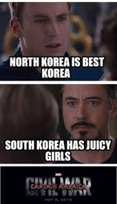 North Korea South Korea Meme - meme creator north korea is best korea south korea has juicy