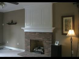 How To Resurface A Brick Fireplace by Fireplace Makeover Before And After Youtube