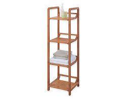 deluxe 4 tier bamboo tower shelf bathroom storage rack shelves