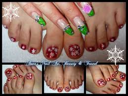 snowflake toe nail design youtube