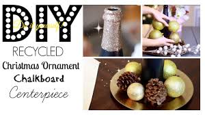 recycled ornament centerpiece diy youtube