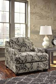 Ashley Furniture Accent Chairs Gypsum Modern Charcoal Fabric Hardwood Accent Chair Living Rooms