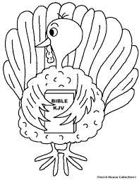 turkey holding bible coloring