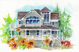 beachfront coastal bungalow california style house plans home