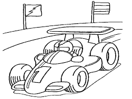racecar coloring page