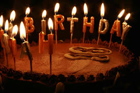 happy birthday chocolate cakes with candles hd wallpaper full