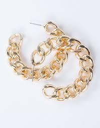 hoop earrings gold mini chain hoop earrings gold chain earrings thick hoop