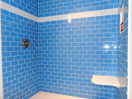 blue mosaic shower tile imanada periwinkle glass subway modwalls