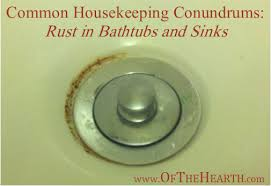 Unscrew Bathtub Drain Common Housekeeping Conundrums Rust In Bathtubs And Sinks