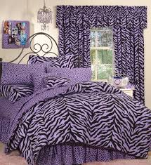 bedding sets for girls print purple zebra print bed in a bag