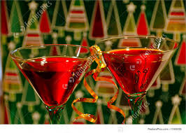 holiday champagne cocktails photograph of christmas cocktails