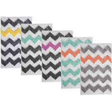 Dark Teal Bathroom Rugs by Interdesign Microfiber Chevron Bath Rug 34