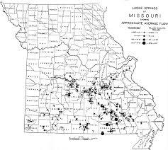 Map Missouri Missouri Springs Distribution Maps