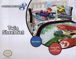 Mario Bedding Set Mario Kart 8 Road Rumble 4pc Comforter And Sheet Set Bedding