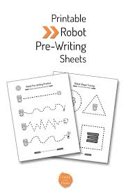 themed writing paper 76 best robot crafts images on pinterest robot crafts easy kids free printable robot themed pre writing tracing sheets