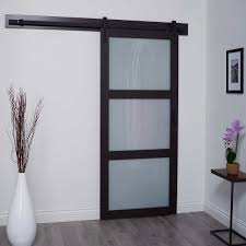 renin barn style 3 lite glass door