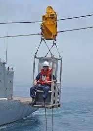 boatswain u0027s mate 1st class ryan abbott rides a boatswain u0027s chair