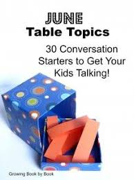 december table topics table topics starters and december
