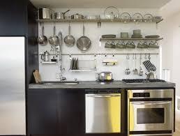 kitchen wall storage kitchen open rail storage systems remodelista
