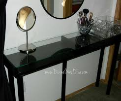 Narrow Makeup Vanity Table Narrow Makeup Vanity Table With Glass Top And Tall Stand Diy Glass