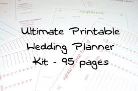 downloadable wedding planner wedding printable free