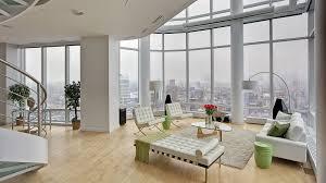 Penthouse Design Modern Manhattan Duplex Penthouse With Stunning Views And Feng