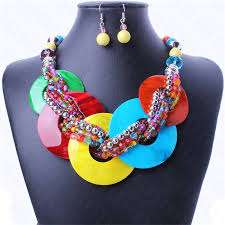chunky jewelry necklace images Ithil hot bohemian style ball bead chain statement necklace women jpg