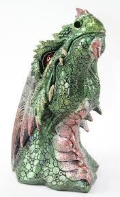 green western dragon head eyes color change nightstand desklight