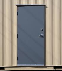 man door installed in new 20 u0027 storage container