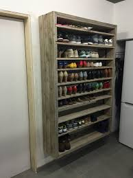 wall hung shoe shelf