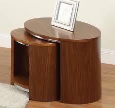 Coffee Table Nest by Jual Curve Walnut Veneer Nest Of Tables In Oak Or Walnut