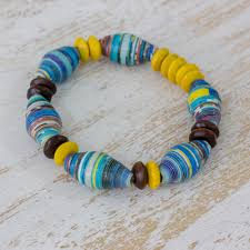 humanity bracelets colorful pinewood and recycled paper bracelet from guatemala