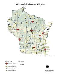 Appleton Wisconsin Map by Wisconsin Aviation Week Transportation Development Association