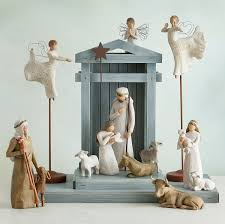 home interiors nativity set amazon com willow tree creche susan lordi home u0026 kitchen