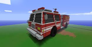 minecraft police car american lafrance fire engine minecraft project