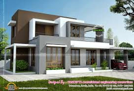 contemporary house plans flat collection also kerala modern roof