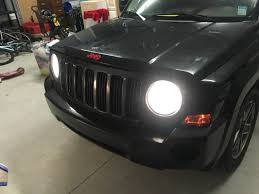 plasti dip jeep emblem red emblems painted rims and tinted lights jeep patriot forums